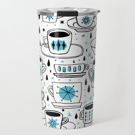 Retro coffee cups teal Travel Mug