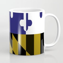 Maryland State Flag Baltimore Football Season Colors Purple Gold Coffee Mug