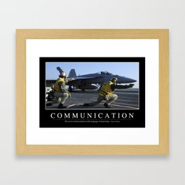 Communication: Inspirational Quote and Motivational Poster Framed Art Print