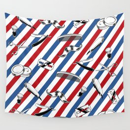 Barber Shop Pattern Wall Tapestry