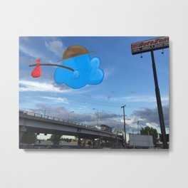 Traveler Cloud Metal Print