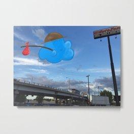 Traveler Cloud Metal Print