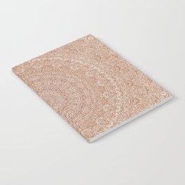 The Most Detailed Intricate Mandala (Brown Tan) Maze Zentangle Hand Drawn Popular Trending Notebook