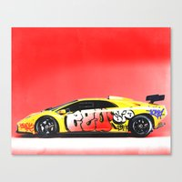 lamborghini Canvas Prints featuring Lamborghini Diablo by Sushilove