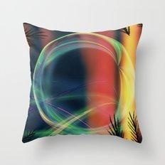 Alaskan Aurora Borealis Abstract Throw Pillow