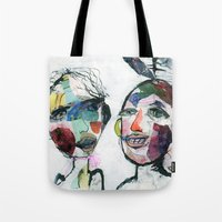 valentines Tote Bags featuring Valentines by Julia Dean