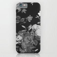 Black & White Vintage Flower Print Slim Case iPhone 6s