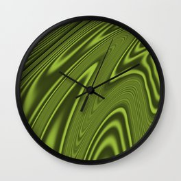 Abstract Fractal Colorways 03 Malalchite Lime Green Wall Clock