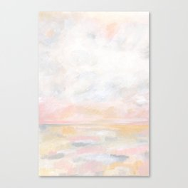 Ecstatic - Pink and Yellow Pastel Seascape Canvas Print