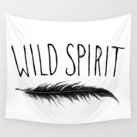 into the wild Wall Tapestries featuring Wild  by Christa Morgan ☽