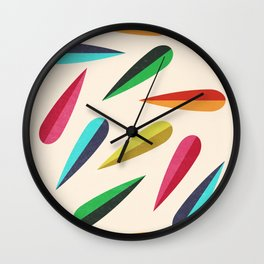 Feathers II Cascading Colors Wall Clock