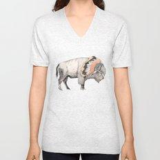 White Bison Unisex V-Neck