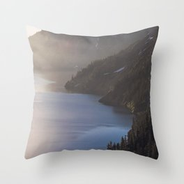 First Light at the Lake - Nature Photography Throw Pillow
