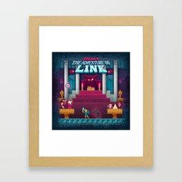 The Link Adventure of Zelda, too Framed Art Print