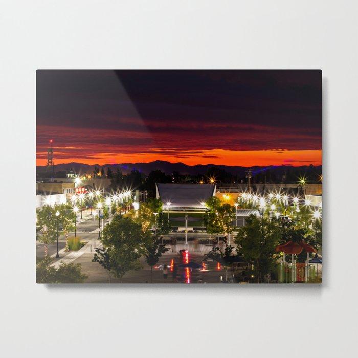 City scape /Medford OR Metal Print