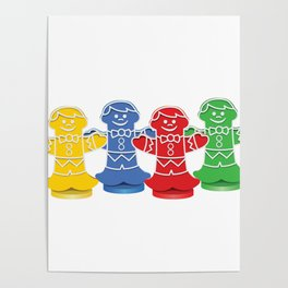 Candy Board Game Figures Poster