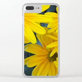 Yellow rudbeckia flowers Clear iPhone Case