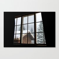 cabin Canvas Prints featuring Cabin by JacDodge