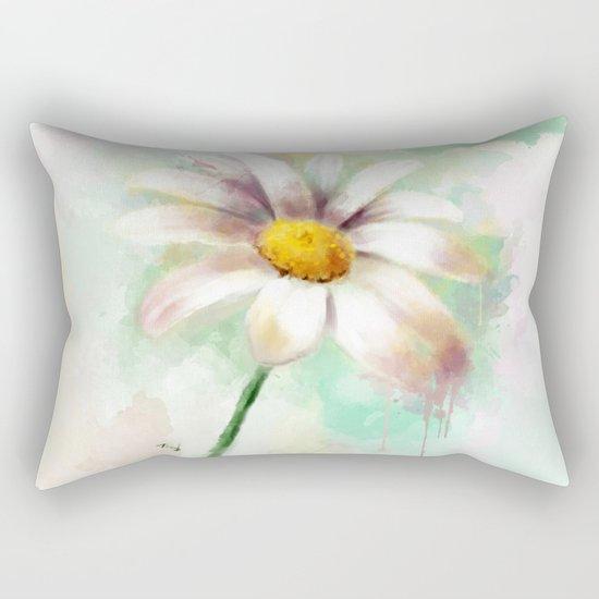 Daisy watercolor - flower illustration Rectangular Pillow