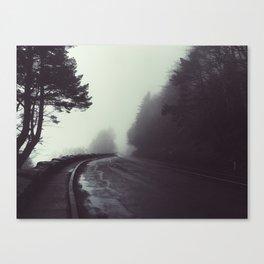 Fog came down Canvas Print