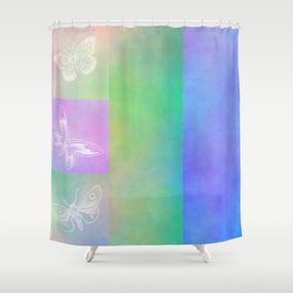 Whoever hears laughing butterflies... Shower Curtain