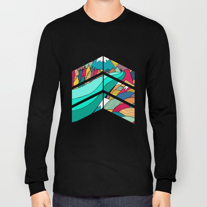 River in the mountains Long Sleeve T-shirt