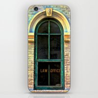 law iPhone & iPod Skins featuring Law Office by Biff Rendar