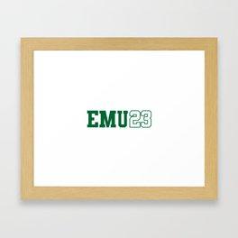 Eastern Michigan Class of 2023 Framed Art Print