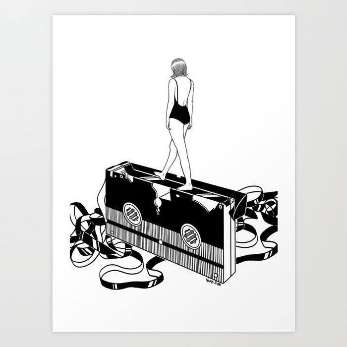 Walking on bad memories Art Print