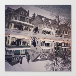 Reflection of Houses Canvas Print