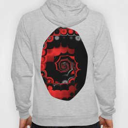 TGS Fractal Abstract in Red and Black Hoody