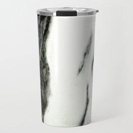Ebony White Marble With Captivating Black Veins Travel Mug