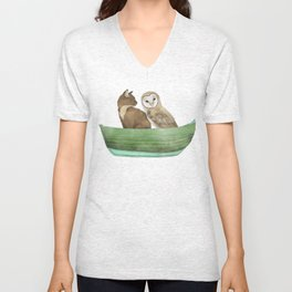 Owl and the Pussy Cat Unisex V-Neck
