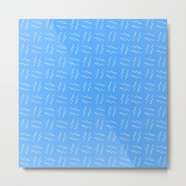 free scribble 8 blue Metal Print