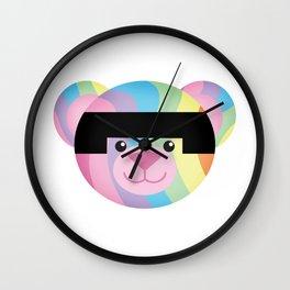 Classic Rainbow Bondage Bear Wall Clock