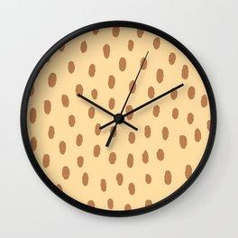 Brown Minimal Spots Wall Clock