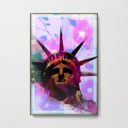 Mother Liberty Metal Print