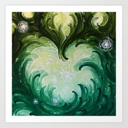 Green Heart Art Print