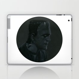 Frankenstein's monster on vinyl record print Laptop & iPad Skin