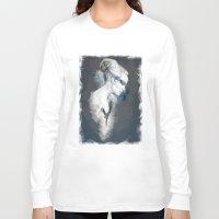 black swan Long Sleeve T-shirts featuring Black Swan by Susana Miranda ilustración