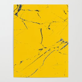 modern yellow marble looks Poster