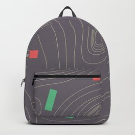 Map land color pattern Backpack