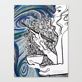 Oodles of Noodles Canvas Print