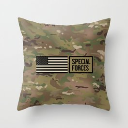 Special Forces (Camo) Throw Pillow