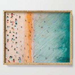 Large Aerial Beach Print, Printable Beach Art, Beach Wave Art, Aerial Beach Photography, Coastal Art, Ocean Print, Modern Art Serving Tray
