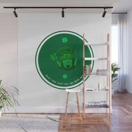 Retro Vintage St Patricks Day Green Beer Irish Wall Mural
