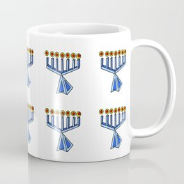 menorah 7,Hanukkah,jewish,jew,judaism,Festival of Lights,Dedication,jerusalem,lampstand,Temple, מְנו Coffee Mug