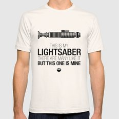 This is my Lightsaber (Luke Version) Natural MEDIUM Mens Fitted Tee
