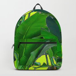 DECORATIVE TROPICAL GREEN FOLIAGE & CHARTREUSE ART Backpack