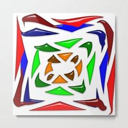 Crystalline abstract Metal Print